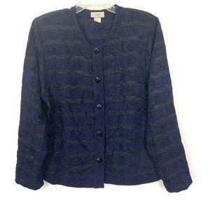 VTG IC by Connie K Striped Blazer Jacket Large